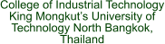 College of Industrial Technology King Mongkut's University of Technology North Bangkok, Thailand